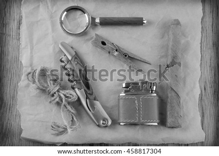 vintage style accessories - stock photo