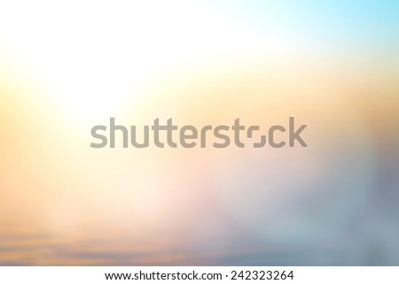Vintage Style Blurred Bright Sun 2017 Sand Sea Bokeh Flare Soft Zen Glow Ocean Wave Clear Relax Shine Pastel Fresh Park Vibrant Clean Nature Morning Backdrop Bless Blue Blurry Inspired Snow Texture - stock photo