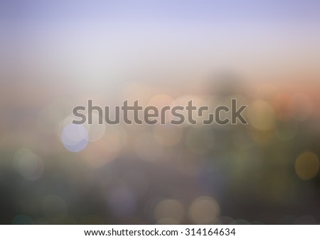 Vintage style. Blurred night over city background with circle bokeh light. blur background concept. World City Day concept. - stock photo