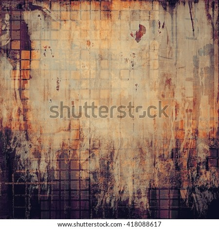 Vintage style designed background, scratched grungy texture with different color patterns: yellow (beige); brown; gray; red (orange); purple (violet); black