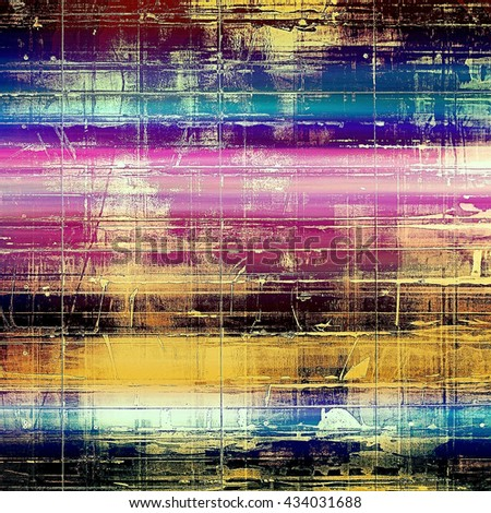 Vintage style designed background, scratched grungy texture with different color patterns: yellow (beige); brown; blue; purple (violet); cyan; pink - stock photo