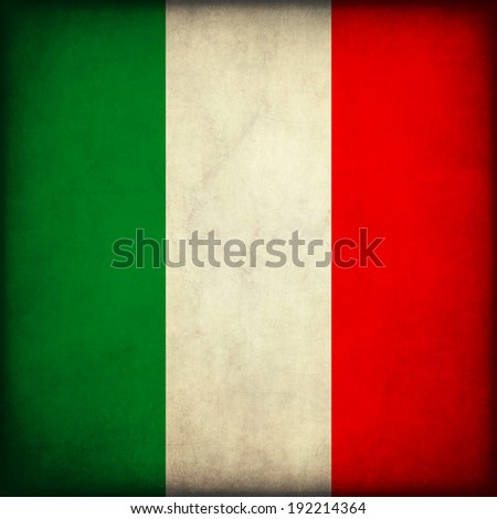 Vintage style. Grunge flag of mexico - stock photo