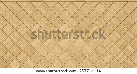 vintage style oak parquet floor - stock photo