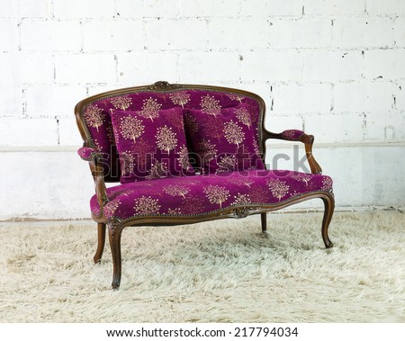 vintage style of interior decoration the  sofa  and concrete wall.