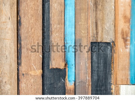 Vintage Style Old Panel Wood Plank Texture Background for Furniture Material and Room Interior - stock photo