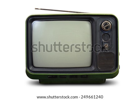 Vintage style old television - stock photo