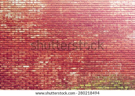 Vintage style with grungy brick wall texture as a background - stock photo