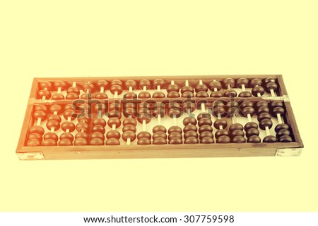 Vintage style - Wooden abacus beads - stock photo
