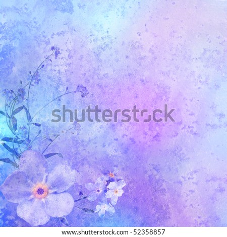 vintage styled background with floral decoration - background for your text - stock photo