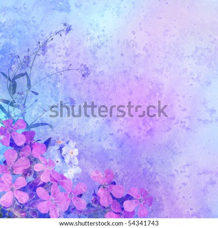 vintage styled floral border - background for your text - stock photo