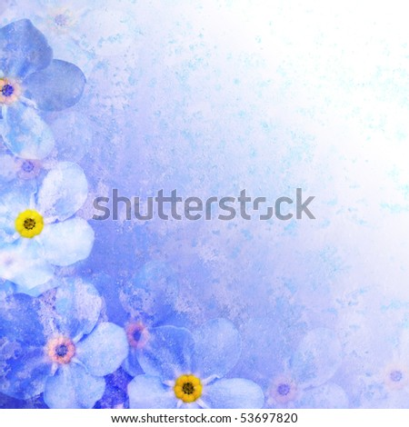 vintage styled floral frame, background for your text - stock photo