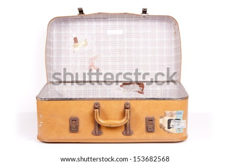 Vintage Suitcase - stock photo