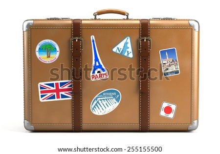 vintage luggage. vintage suitcase luggage