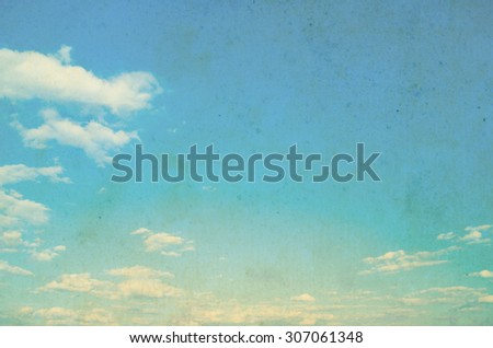 Vintage summer background - stock photo