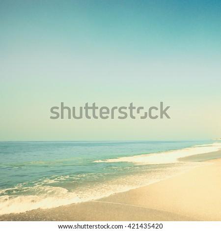 Vintage summer beach - stock photo