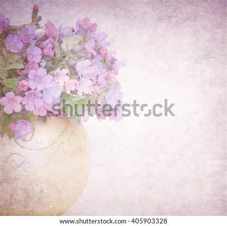 Vintage summer flowers - stock photo
