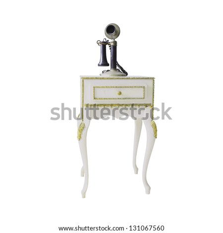 Vintage Table isolated on white background - stock photo