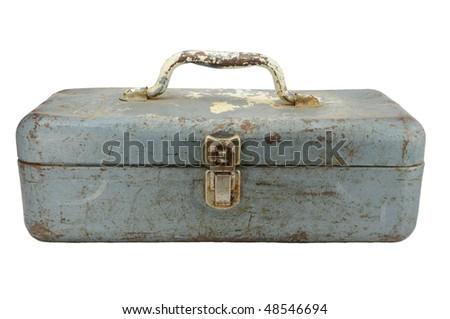 vintage tackle box - stock photo
