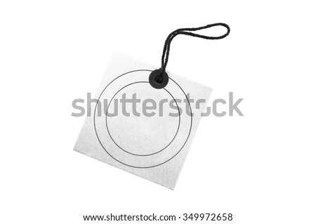 Vintage tag label isolated on white background