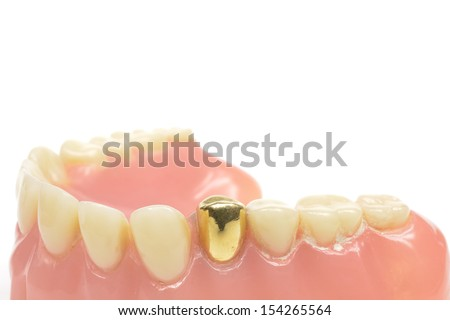 vintage teeth - stock photo