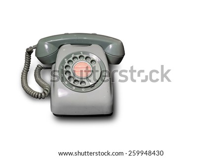 Vintage Telephone Isolated on white background. - stock photo