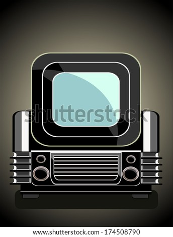 Vintage television - stock photo