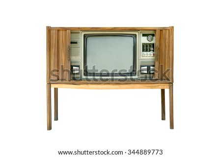 Vintage television isolated