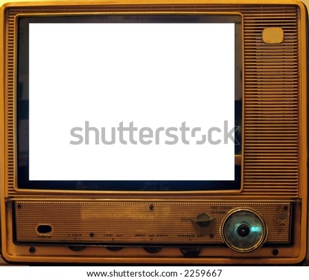 Vintage Television -- this model dates from around 1960 - stock photo