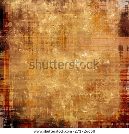 Vintage Template. With different color patterns: yellow (beige); brown; gray; red (orange) - stock photo