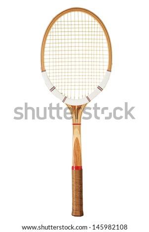 Vintage tennis racket - stock photo