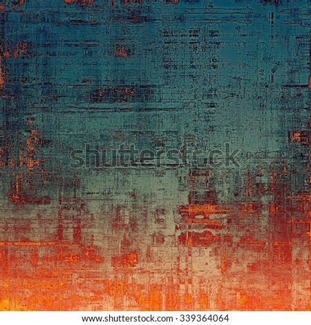 Vintage texture for background. With different color patterns: yellow (beige); blue; gray; red (orange) - stock photo
