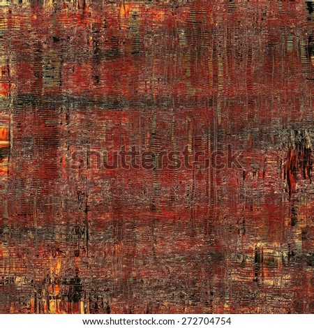 Vintage texture for background. With different color patterns: yellow (beige); brown; black; red (orange) - stock photo
