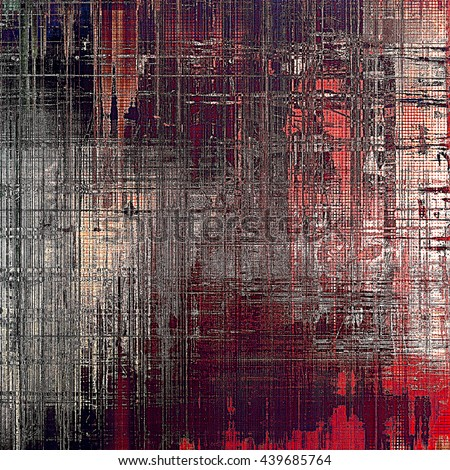 Vintage texture or antique background with grunge decorative elements and different color patterns: gray; red (orange); purple (violet); black; pink - stock photo