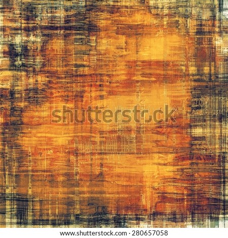 Vintage texture. With different color patterns: yellow (beige); brown; gray; black - stock photo