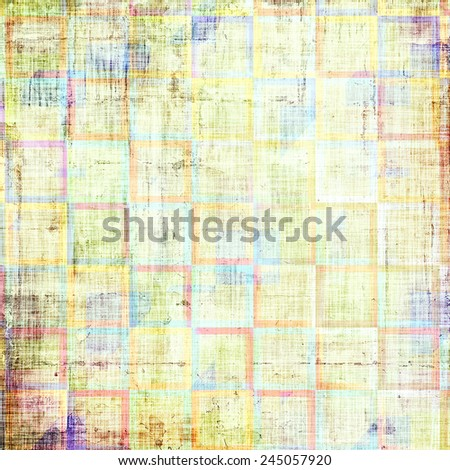 Vintage texture. With different color patterns: yellow (beige); red (orange); brown; blue - stock photo
