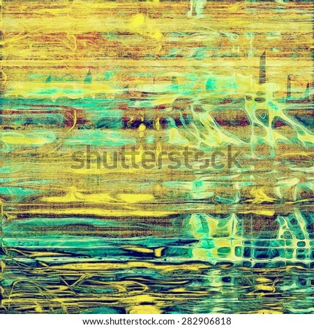 Vintage texture with space for text or image, grunge background. With different color patterns: yellow (beige); brown; green; blue - stock photo