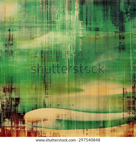 Vintage texture with space for text or image, grunge background. With different color patterns: yellow (beige); brown; gray; green - stock photo