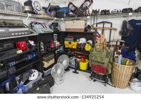 Vintage Thrift Store Garage Sale Merchandise - stock photo