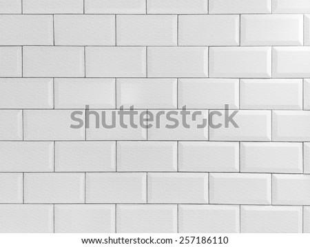 vintage tiled wall - stock photo
