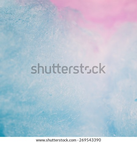 Vintage tone of colorful cotton candy in soft color for background - stock photo