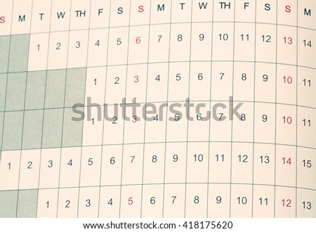 Vintage tone of Daily planner - stock photo