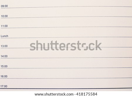 Vintage tone of Daily planner or time planner - stock photo