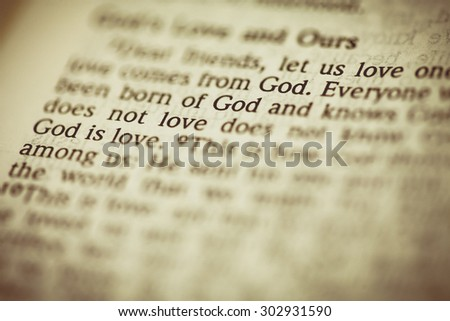 "Vintage tone of word "" God "" - stock photo"