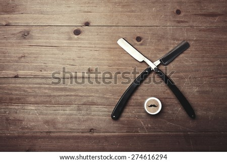 Vintage tools and box of wax - stock photo