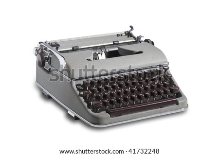 Vintage top quality west german portable typewriter from the 1950 and 1960