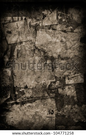 Vintage Torn Paper - stock photo