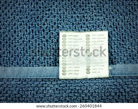 Vintage towel texture background -  blue