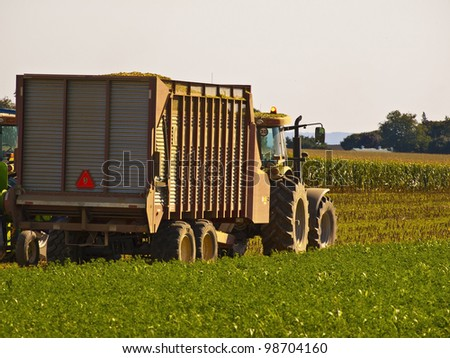 Vintage Tractor in an Amish Farm, Lancaster USA - stock photo