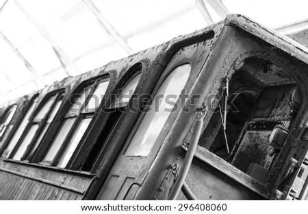 Vintage Train Car - stock photo