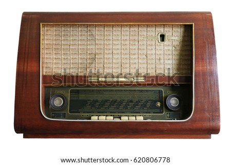 Vintage Transistor Radio, isolated, Thailand